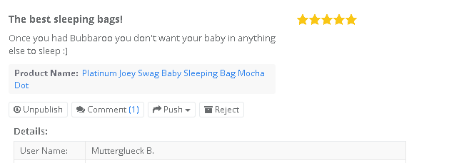 Customer verified purchaser review of Platinum Joey Swag baby sleeping bag